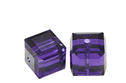 (50 8mm Adabele Austrian Cube Crystal Beads Purple Velvet Compatible with Swarovski Crystals Preciosa 5601 SSC827)