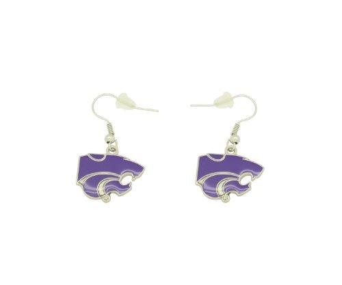 aminco NCAA Dangler Earrings, Kansas State Wildcats Kansas State University