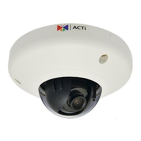 ACTi E97 10MP Indoor Mini IP Dome Camera: Basic WDR, Fixed lens, f3.6mm/F1.8, H.264, 1080p/30fps, DNR, Local Storage, PoE, IK08, 3yr