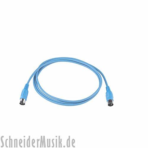 RockCable RCL 30700 D5 Midi Kabel (5-polig) 1m, blau