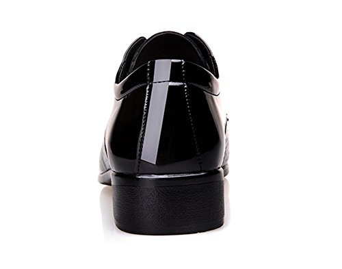 up Hommes Grande Créatif Chaussures Lace Formelle xie Chaussures Chaussures 44 Taille Simple Glossy black Style 38 Porter Mode 7Yd4wRFq