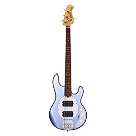 Sterling by Music Man 4 String Bass Guitar, Right, Lake Blue Metallic (RAY4HH-LBM-R1)