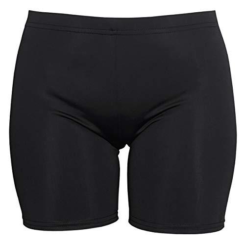 COCOSHIP Black Ladies Boyleg UPF 50+ Bikini Bottom Tankinis Multipurpose Swim Sport Short L(FBA)