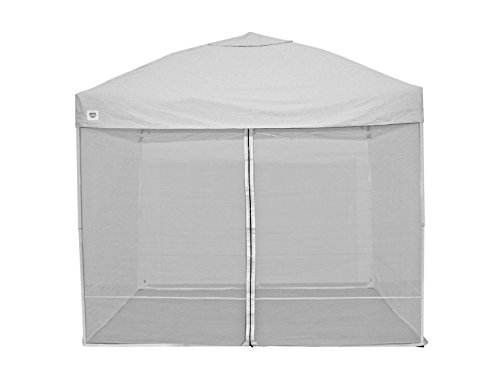 Quik Shade 10'x10' Instant Canopy Screen Panel with Zipper Entry – Canopy Frame and Cover SOLD SEPARATELY (Weekender Canopy)