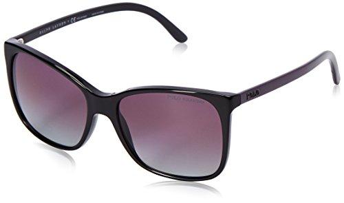 Polo Ralph Lauren Women's 0PH4094 Polarized Rectangular Sunglasses, Black,Polar Gradient,Burgundi,Black & Violet, 55 - Sunglasses Ralph P