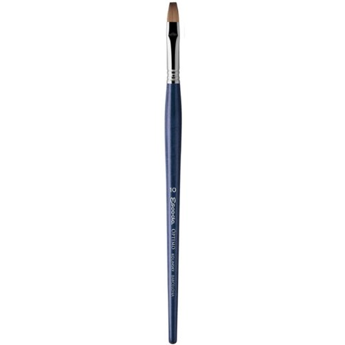 Speedball Art Products 2913-16 Escoda Optimo Series Artist Oil & Acrylic Long Handle Bright Paint Brush, Size 16, Pure Kolinsky by Speedball