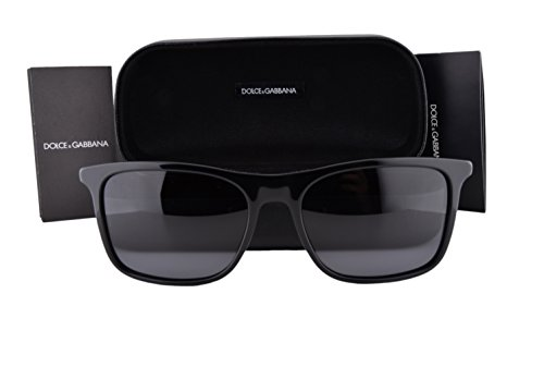Dolce & Gabbana DG4242 Basalto Collection Sunglasses Black w/Gray Lens 50181 DG 4242 For - Mens Sale Dolce And Gabbana