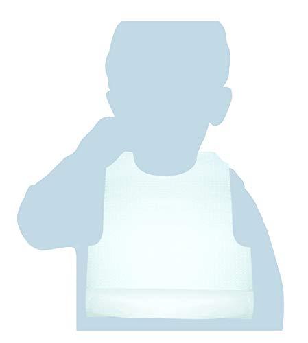 fond /étanche et pochette Ramasse Nourriture dans la partie inf/érieure Bavoir en Papier avec film en poly/éthyl/ène 100/bavoirs PE Easy Enfant 27/x 33/cm