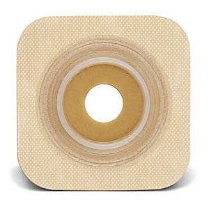 Sur-fit Natura Stomahesive Flexible Pre-Cut Wafer 4'' x 4'' Stoma 1-3/8'' (Box of 10)