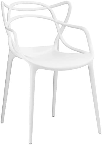 Modway Entangled Modern Molded Plastic Kitchen and Dining Room Arm Chair