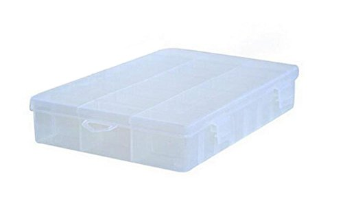 15 Grid Clear Portable Hard Plastic Make Up Storage Box Organizer with Removable Dividers Art Craft Jewelry Earring Beads Ring Sewing Pills Accessories Case Container (style 2)