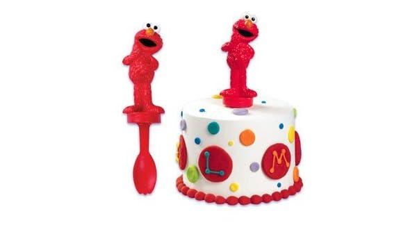 Sesame Street Elmo Spoon Cake Topper Toy Amazonca Home Kitchen