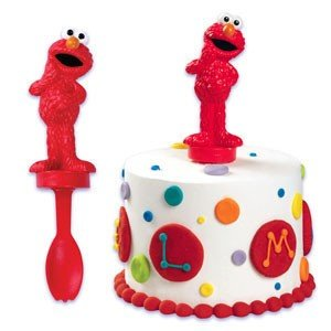 Amazoncom Sesame Street Elmo Spoon Cake Topper Kitchen Dining