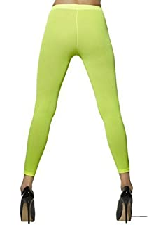 9950e90617ef8 Ladies Sexy Neon Orange Pink Green 1980s Fancy Dress Coloured Footless  Opaque Tights