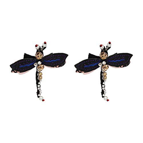 maxsoul Trend Fashion Dragonfly Earring Vintage Design Party Girl Statement Earrings for Women,50373 (Design Onyx Ring)