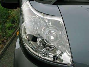 EGRAU 9316 Hard Clear Acrylic Headlight Cover for Kia Sedona (Carnival) - 2006-2014 - Custom Molded (Egr Headlight Covers)