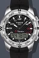 Tissot T-Touch II Black Carbon Quartz Multifunction Rubber Men's watch #T047.420.47.207.00