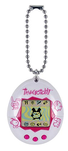 (Tamagotchi Electronic Game, White/Pink)