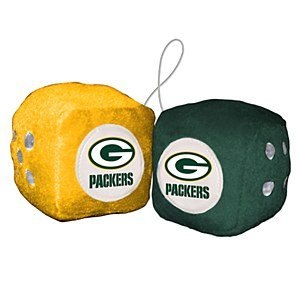 NFL Green Bay Packers Fuzzy Dice Ornament