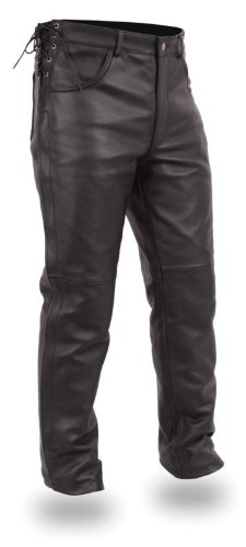 Leather Motorcycle Overpants - 3