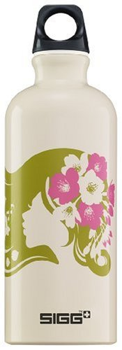 Sigg Design Water Bottle (0.6-Liters, Flower Girl)