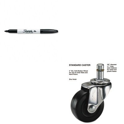 KITMAS32001SAN30001 - Value Kit - Master Caster Standard Casters (MAS32001) and Sharpie Permanent Marker (SAN30001)