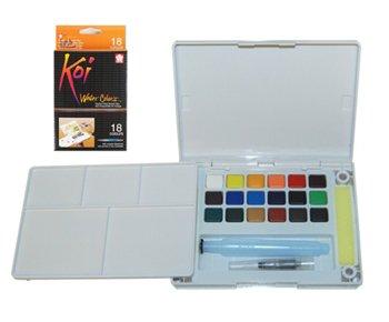 (Koi Water Colors Pocket Field Sketch Box-18 Colors)