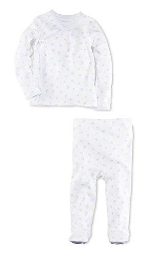 Ralph Lauren Baby Boys Block-Print Kimono 2-Piece Set Blue/White (9 (Kimono Ensemble)