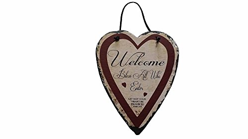 Ohio Amish Welcome Bless All Who Enter John 14:1 Slate Wall Hanging Sign