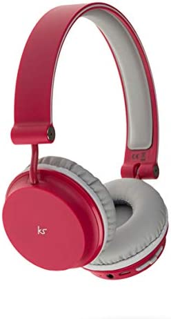KitSound Metro X Draadloze Bluetooth On-Ear Hoofdtelefoon met Track Controls, Mic en Call Handling Metro Rood