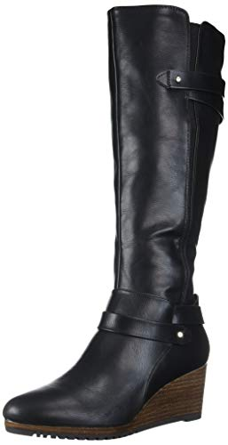 Dr. Scholl's Shoes Women's Check It Wedge Boot, Black, 9