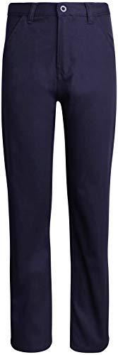 Beverly Hills Polo Club Boys School Uniform Slim Straight Pants, Navy, Size 16'