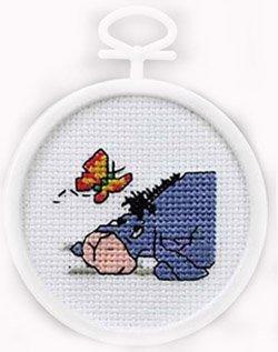 (Eeyore & butterfly cross stitch kit)
