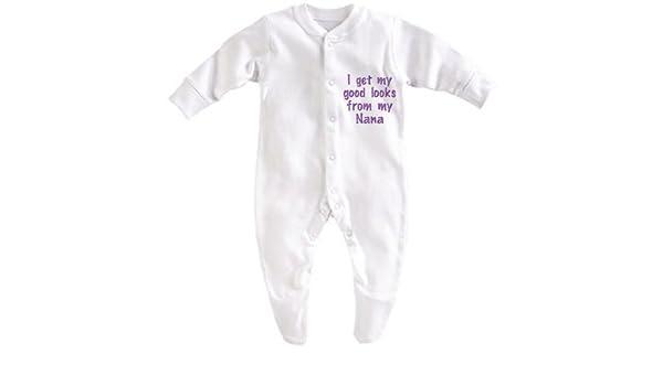 Obtén mis buenos looks de mi nana blanco blanco Talla:Girl 3-6 Months: Amazon.es: Bebé