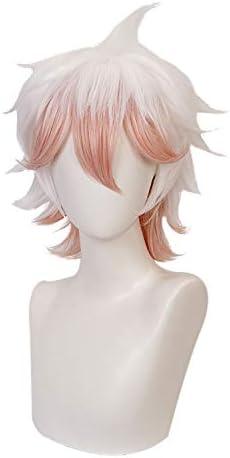 MUZI WIG Anime Cosplay parrucca per Danganronpa Cosplay parrucca con cappuccio parrucca gratuita Enoshima Junko
