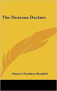 Book The Heavens Declare