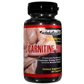 PowerNutra L-CARNITINE 500 à 90 Capsules 500mg métaboliser les aliments en énergie