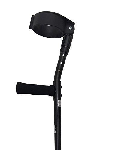 Thomas Fetterman Walk Easy 490 4'' Cuff Adjustable Forearm Crutches with Choice of Tips (Adjustable with Tornado Gel Tip) by Thomas Fetterman (Image #2)