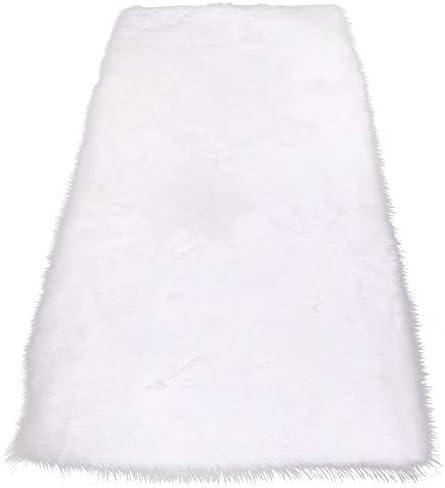 RainBabe Tapis en laine dimitation Tapis en Fausse Fourrure de Luxe /¨/¤ Poil Doux pour Maison Canape