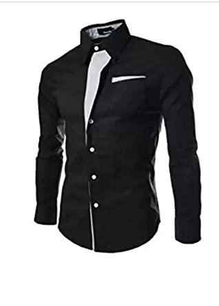 black party ware shirt: Amazon.in: Clothing & Accessories