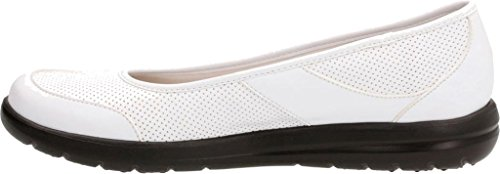 CLARKS Women's Jocolin Myla Flat White Perfed Synthetic with mastercard online 1RXd5qa