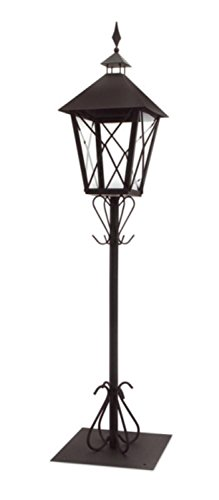 Cheap Set of 2 Black Tall Standing Post Lantern with Stand 67″