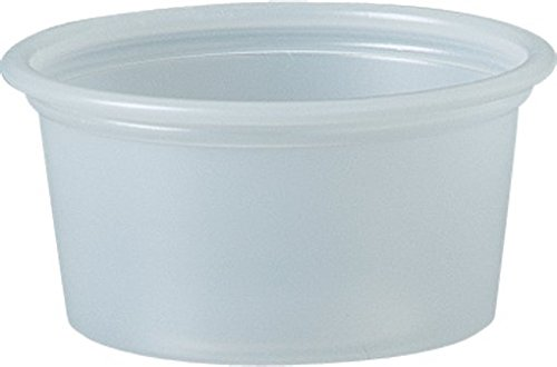 Solo Plastic 0.75 oz Clear Portion Container for Food, Beverages, Crafts (Pack of 250)