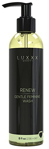Renew Gentle Feminine Wash by Luxxx Beauty (8 fl oz) - pH Balanced Intimate Wash Helps Reduce Odor and Promotes Healthy Skin for Feminine Hygiene - Formulated with Natural Ingredients, Made in the USA