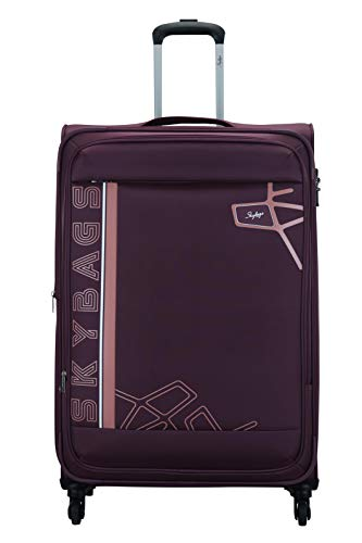 Skybags Polyester 81 cms Berry Purple Softsided Check-in Luggage (Wingman)