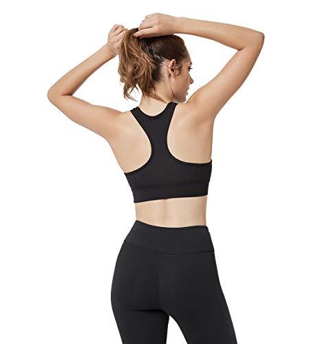 209da2741e168 Yvette Women s Mesh Sports Bra-Medium Impact Support Full Figure Plus Size  Strappy Workout Bra