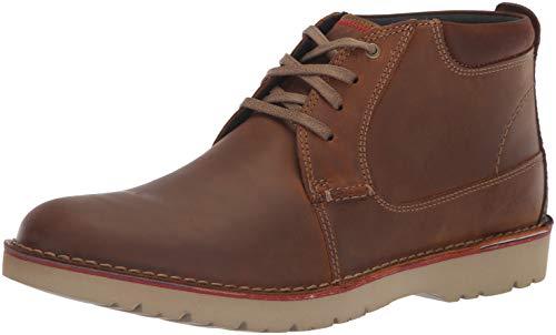 Clarks Men's Vargo Mid Boot, dark tan leather, 095 M US