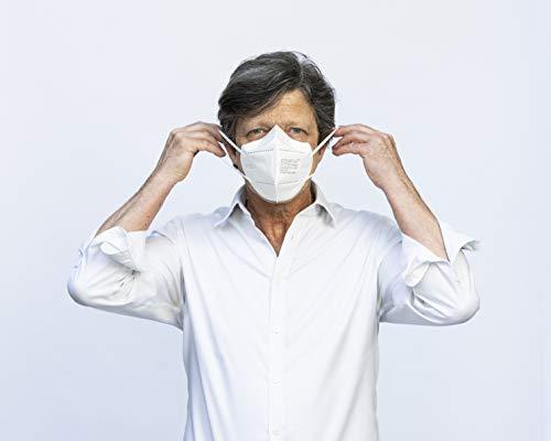 COVAFLU KN95 Disposable Fold Flat Face Mask (Pack of 10 KN95 Face Masks) 31v 2B2 2BT 2B3DL
