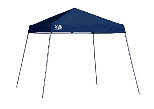(Quik Shade Expedition 10 x 10-Foot Instant Canopy, Slant Leg Outdoor Tent, 64 Square Feet of Shade for 8-12 People - Navy Blue)
