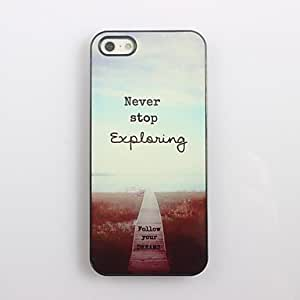 QHY Never Stop Exploring Design Aluminum Hard Case for iPhone 4/4S